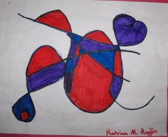 Me Circa 89-94: Blue and Red by Zanowin