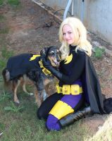 Batgirl and Batdog by AlisaKiss