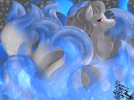 Shiny Ninetales by MissRenaKitsune