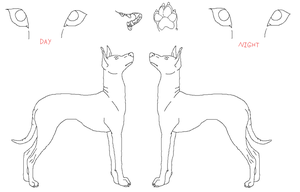 Xoloitzcuintli ref lines by Caneage