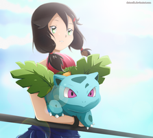 C: Sakura and Ivysaur by Detoreik