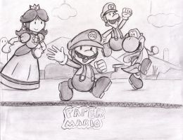 Paper Mario by locomotive111