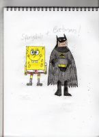 Spongebob and Batman for Willow by MyLittleSquirrelGirl