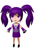 Violet Chibi Model Progress: Cloths Yay!!! by kaisaki1342