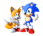 Sonic and Tails by FinnAkira