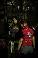 Claire Redfield and Jill Valentine by MadeInHeaven1979