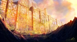 Abandoned Fortress of Alphander by Antares69