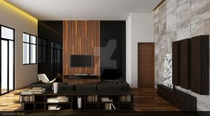 Show room living room 2 by vermillion3D
