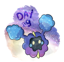 Pokecember Day #9 (favorite psychic) - Cosmog by AmbrosiaDelish