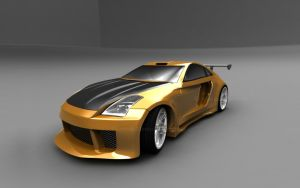 Nissan 350Z Orange_1 by TheSaladMan