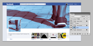 Facebook Cover Template for Gimp by JonathanMH
