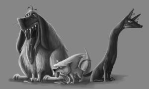 3 dogs wip by yen-wen-hsieh