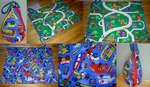 Bear Town Cars1 Playmat Tote by SmilingMoonCreations