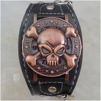 Bronze Quartz Pirate Watch by LypticDesigns