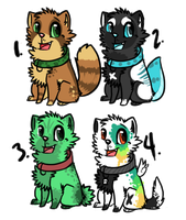 Puppy Adoptables: ALL CLOSED by SpunkyAdopts