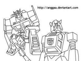 Optimus Prime with Bumblebee by anggaa