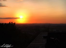 Ebersberg at sundown 1 by Stratege