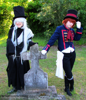 Undertaker and Drocell by clockworkcosplay