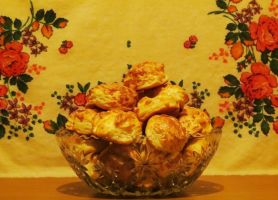 Bowl of Hungarian Cheese Biscuits by Kitteh-Pawz