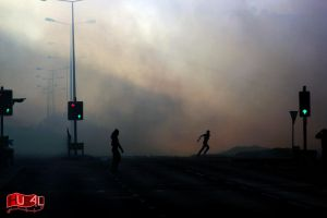 ArabSpring - Bahrain : Clouds of tear gas by Satraawi