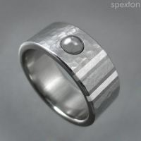 'Yates' Stainless Ring by Spexton