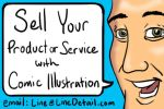 Sell Your Product Service With Comic Illustration by LineDetail