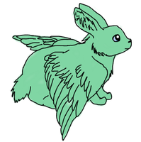 Flying mint bunny by MEG4LOVANIA