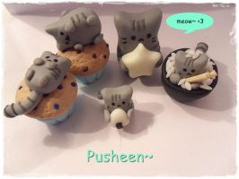 Pusheen Kittehs by The69thEye