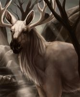 Realistic Stantler by Leashe