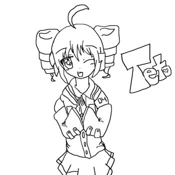 My first Teto -outline xD by akira97