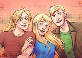 :: Golden Trio by hawberries
