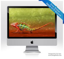 Free Vector Apple LCD Monitor by Designbolts