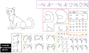 lineart pack 2 -cat- *read rules* by Skelos-kath