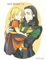 Kyliah and her Mother by Florbe