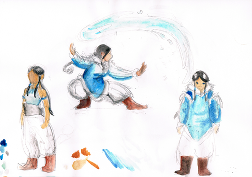 Waterbender sketches by yondoloki