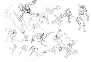 Addicus Kaynar action poses by DanNortonArt