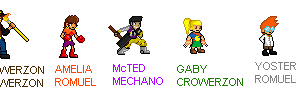 Sprites RQ: 6GrowerCrower4 OC's Sprites by MGZE