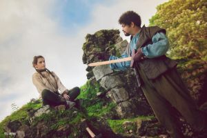 Game of Thrones - Syrio Forel and Arya Stark by luchia-28