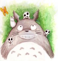 totoro and friends by wind-hime-kaze