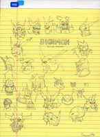 Digimon Drawings by Omnimon1996