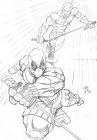DeadPool and DareDevil by MikeVanOrden