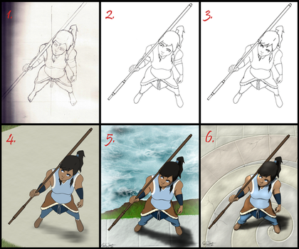 Korra PROGRESSION by Goldencloud