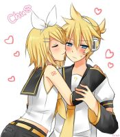 Rin x Len Kagamine by Flash-Step-Master
