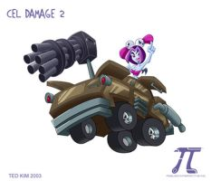 Cel Damage 2 - Violet's Car by TedKimArt
