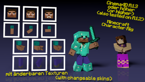 Minecraft Character Rig v1.2 by Domo503