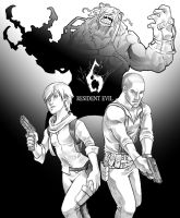 RE6 New Generation Lineart by AIBryce