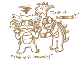 Ludwig Listens to Iggy's Music by randomouscrap98