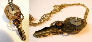 Steampunk Key Necklace by drwhofreak