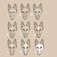 Sivatag Hounds: White Markings by SecretWindow11
