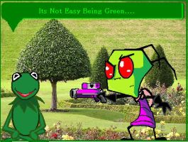 Its Not Easy Being Green by Headgotfleas